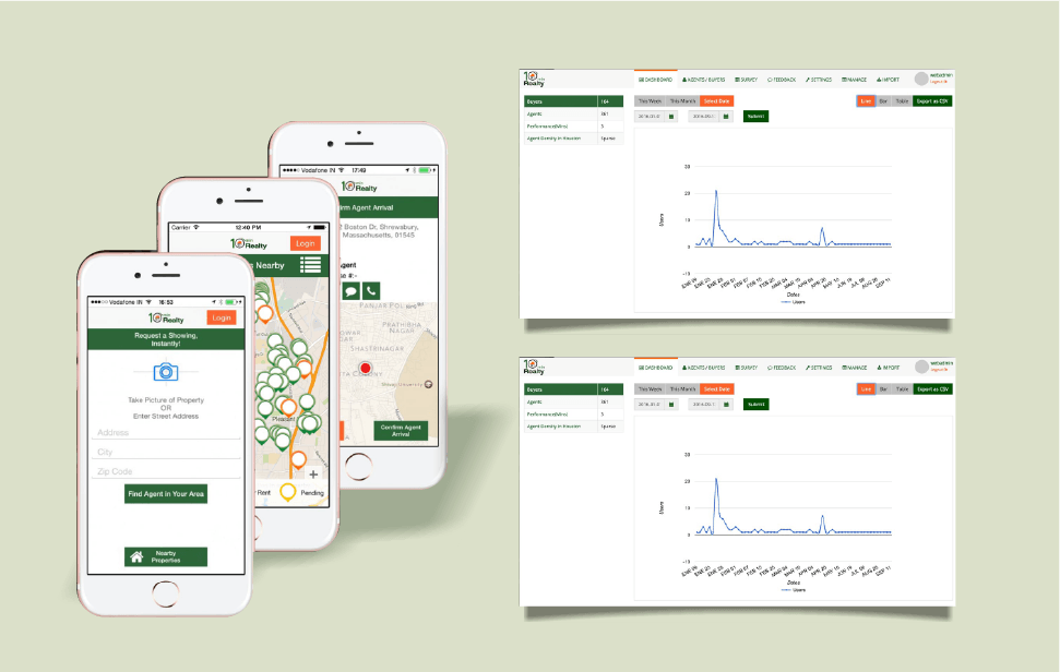 TMR-web and app screenshots