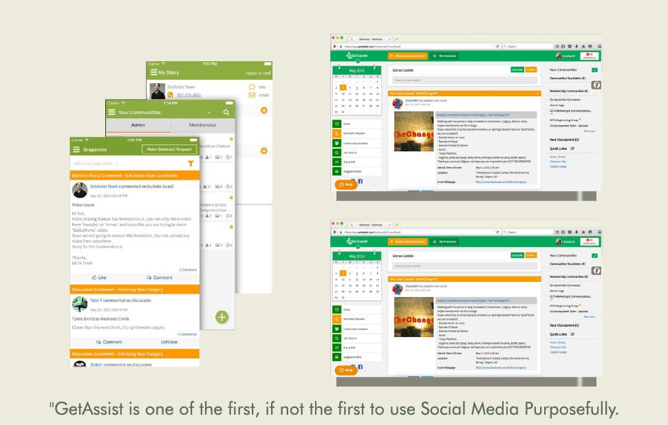 GetAssist - web and app screenshots