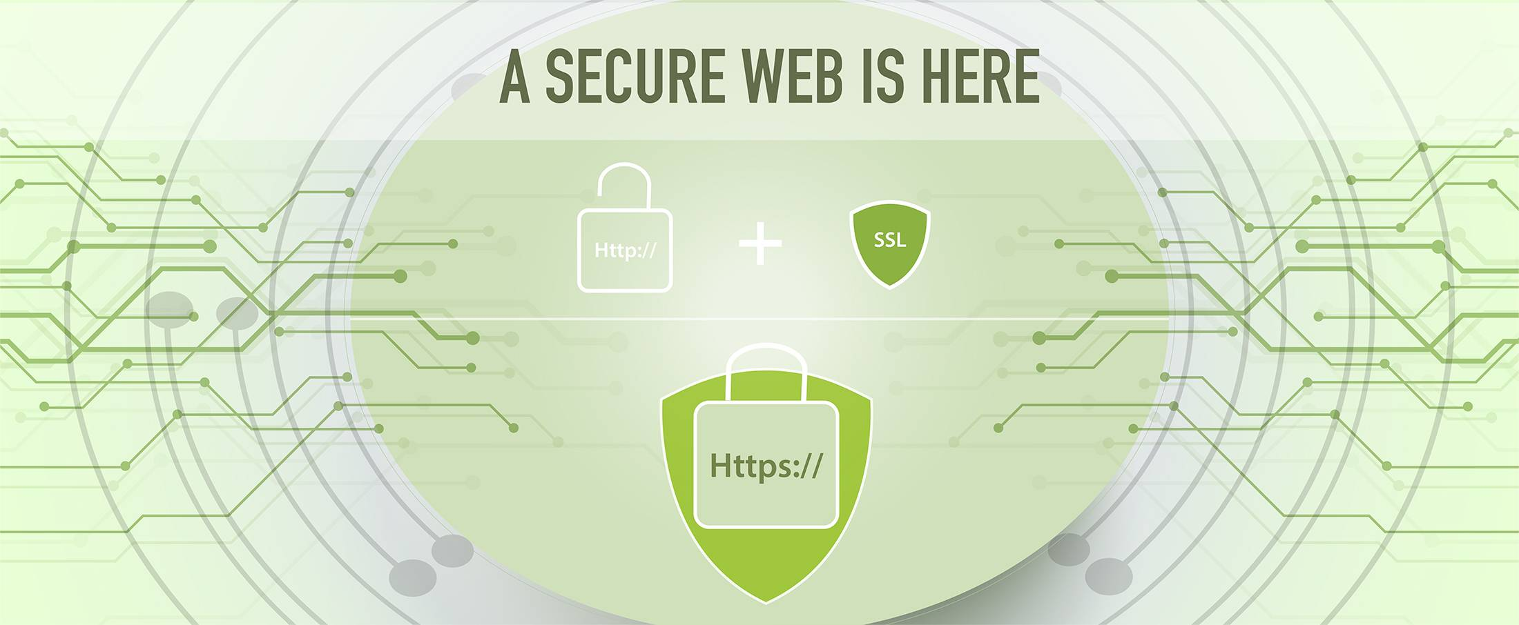 A secure web is here using https